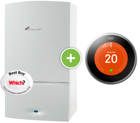 Worcester Greenstar 36 CDI Boiler + Nest Thermostat - small