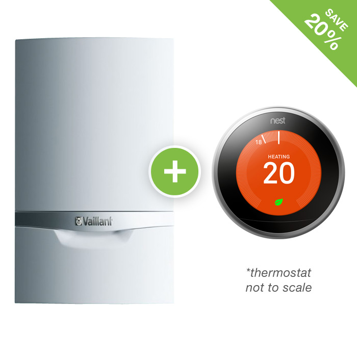 Vaillant Ecotec Plus 835 Nest Thermostat Forever Green